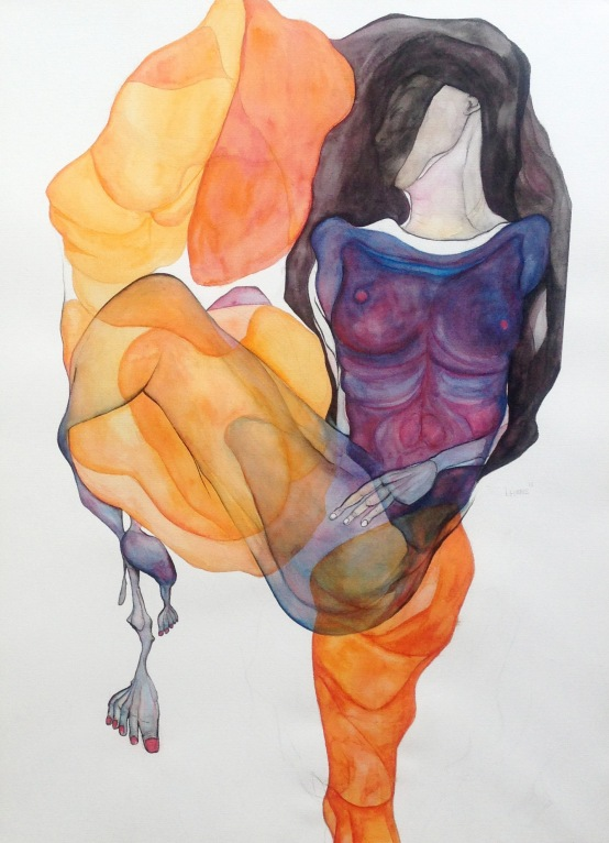 Untitled 2013 watercolour on paper approx. 70 x 100 cm