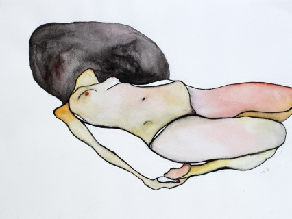 Nude #2 2013 watercolour on paper approx. 32 x 24 cm